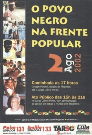 2002.Cartaz movimento negro